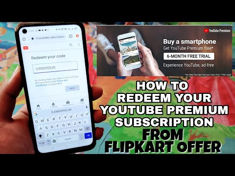 How to Redeem your YouTube Premium Subscription Code from Flipkart : Step by Step🔥