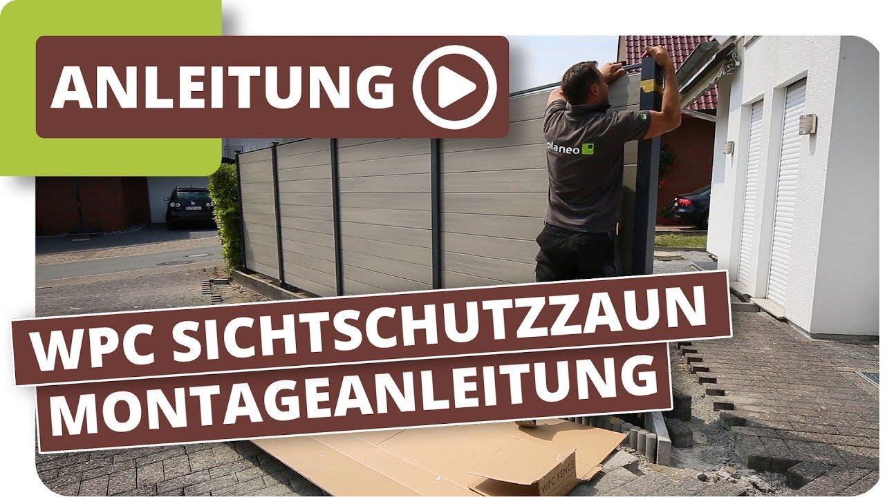 Wpc Sichtschutzzaun Montageanleitung Youtube