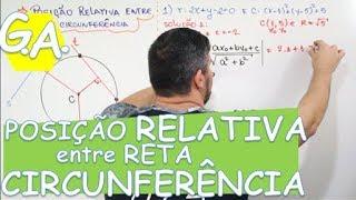 G. A. POSIÇÃO RELATIVA ENTRE RETA E CIRCUNFERÊNCIA
