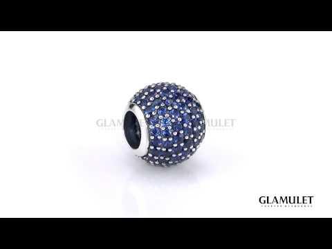 Glamulet ® December Birthstone-Blue Paved Crystal Charm