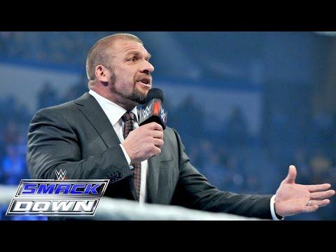 Roman Reigns interrupts Triple H: Smackdown, January 29, 2015