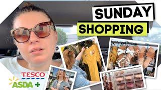 Sunday Shopping / Asda + Tesco - Supermarket Fashion, Homeware, Flowers