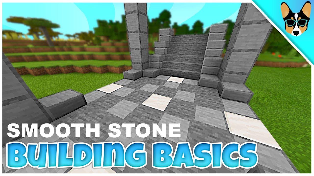 SMOOTH STONE | Minecraft Building & Recipe Basics Tutorial ...