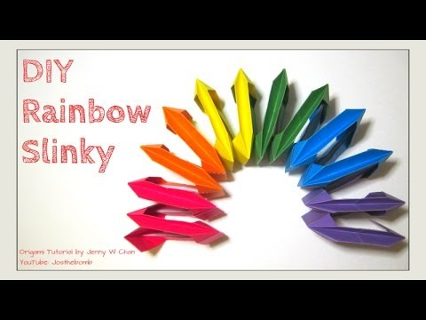 Diy Origami Slinky Origami Rainbow No Glue Summer Crafts