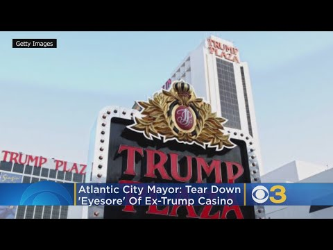 Atlantic City Mayor Marty Small said tourists and residents will have to put up with seeing the abandoned Trump Plaza Hotel Casino for another month since its demolition has been delayed until Feb. 17 (Courtesy: CBSPhilly