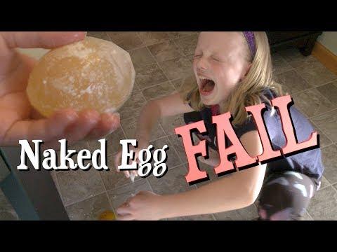 Naked Egg Experiment FAIL