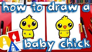How To Draw A Cartoon Baby Chick