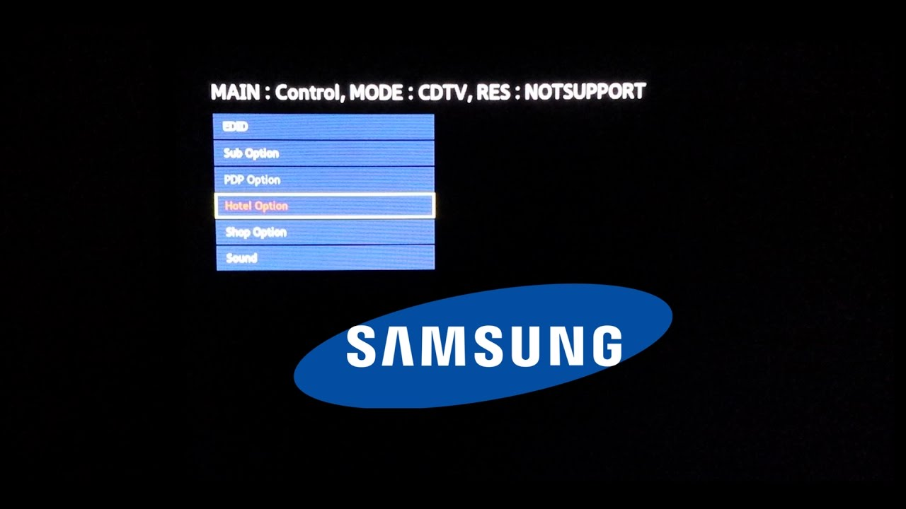 How to Access Hotel Mode and Shop Options on Samsung TV with Service Menu