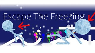 marble race : Escape The Freezing - The Day After Tomorrow Survival In Algodoo Marble Race