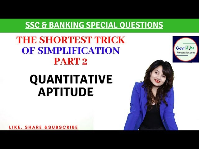 Simplification Part 2 | SSC & Banking Favorite Question | Shortest Trick By Preety Uzlain