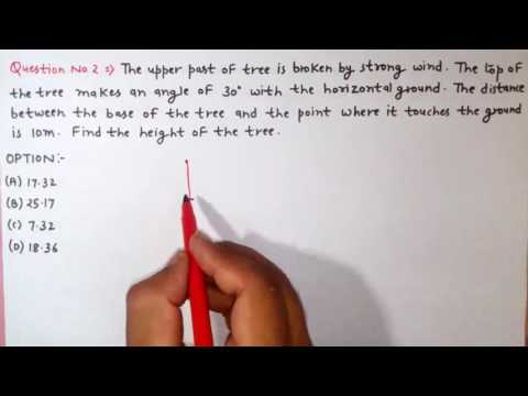 Height and Distance part 1(SSC CGL|CAT|MBA|SNAP|CDS)