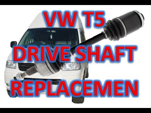 VW T5 Driveshaft CV axle replacement