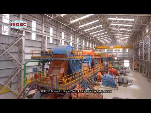 Isgec Sunti Film   3000 TCD Complete Sugar Plant On Turnkey Basis    Golden Sugar Co.Ltd   Nigeria