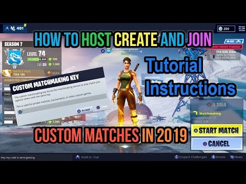 Fortnite How To Create, Host And Join Custom Matchmaking Lobby Servers In 2019 Tutorial Instructions