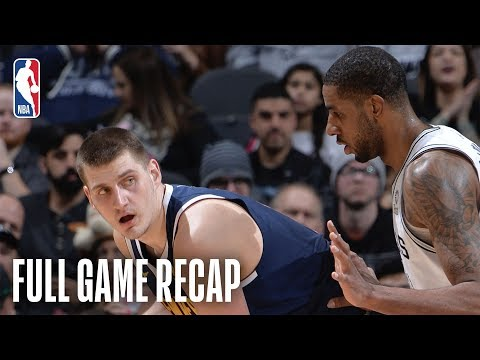 Bill Schoening - Spurs edge Nuggets 104-103