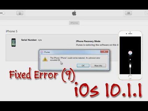 How To Fix Error 9 IOS 10.1.1 While Update Problem Via OTA