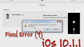 How to fix iPhone can't Restore Error 3004.