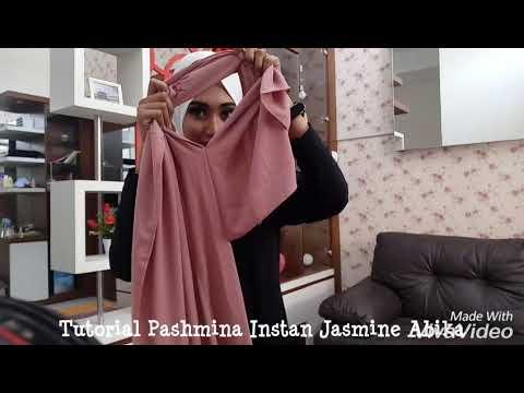 Tutorial Pashmina Instan Jasmine-abika hijab