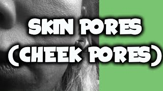 How To Draw Skin Pores | Cheek Pores