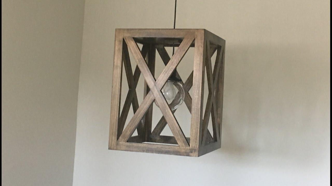 Superb Wood Light Fixture   Kraftmade