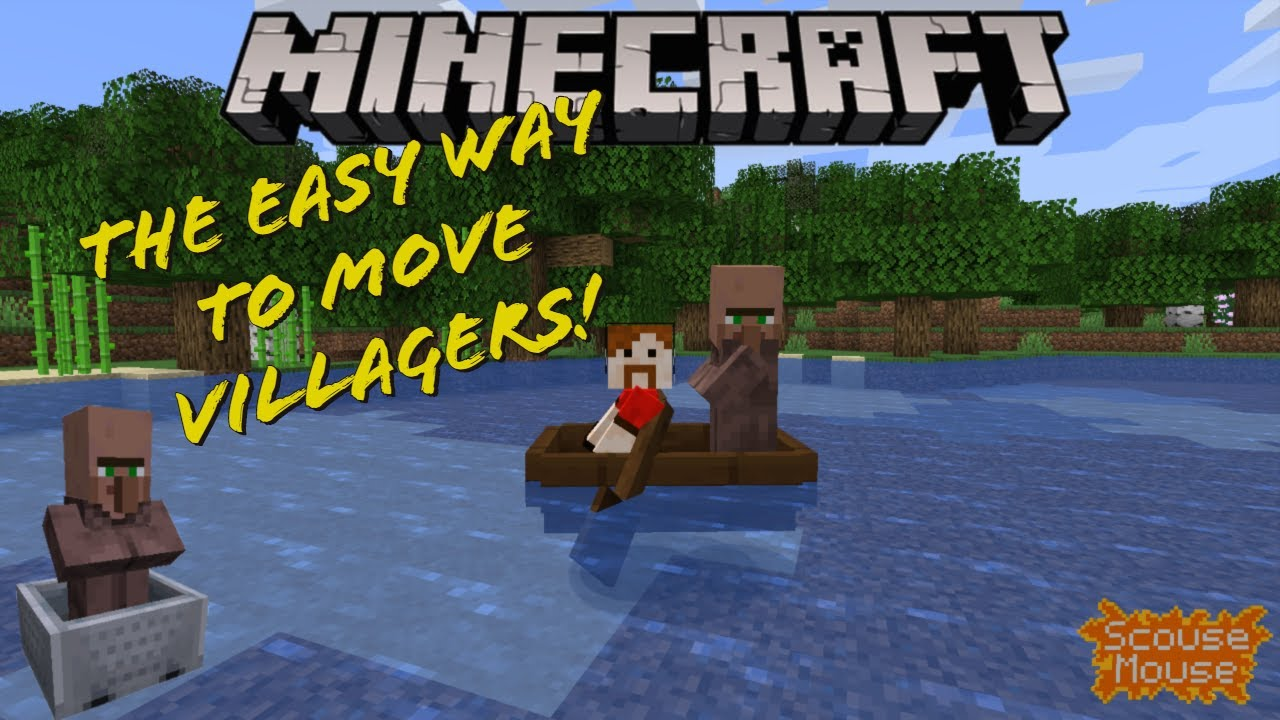 How to EASILY move Villagers - Minecraft tutorial 1.16 / 1 ...