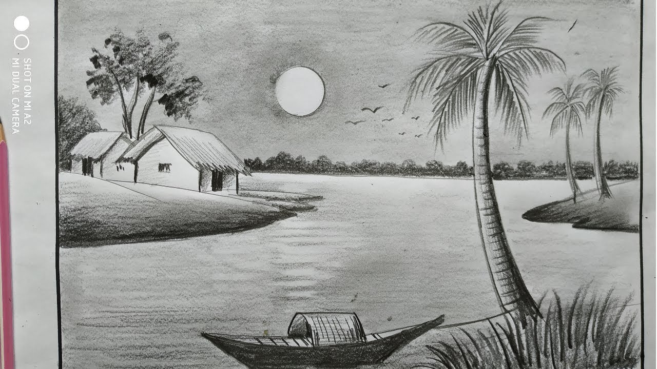 Image result for landscape drawings black and white