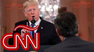 Trump llama a reportero de CNN Jim Acosta