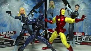 Marvel Legends Iron Man Stealth Maria Hill Sharon Carter S H I E L D Leaders Super Spies