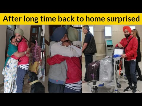 Jaspreet Shah ! Back To Home After 1 year Portugal to India ! Surprised to Family ! CooL Tadka