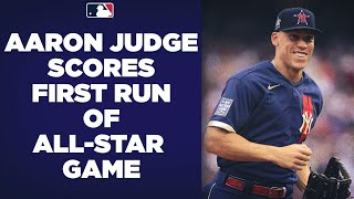 Aaron Judge scores the first run of the 2021 All-Star Game! (Marcus Semien drives him in!)