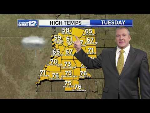 WJTV Weather Forecast For Jackson Mississippi 12262016 PM By Meteorologist Ken South