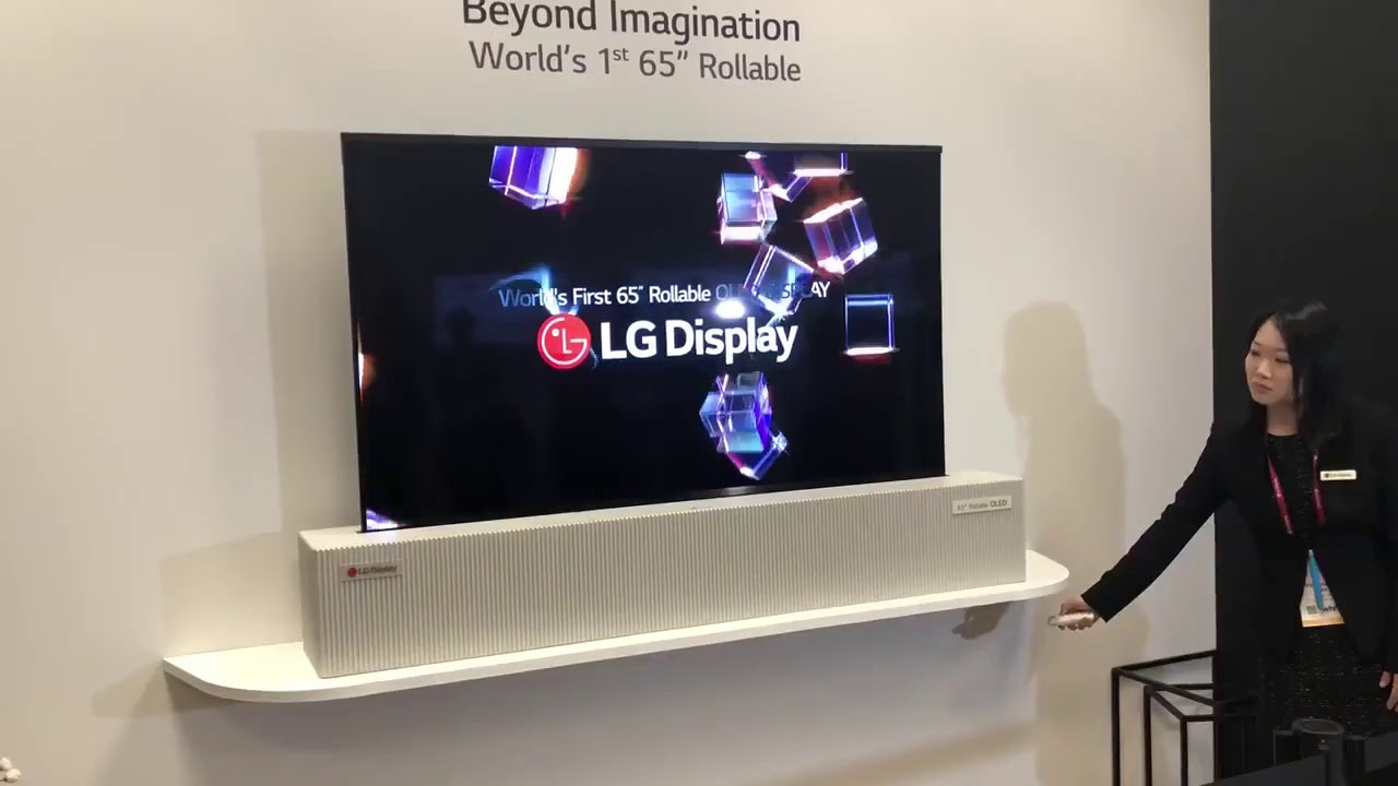 Lg Display Presenta Una Pantalla Oled Uhd Enrollable Youtube
