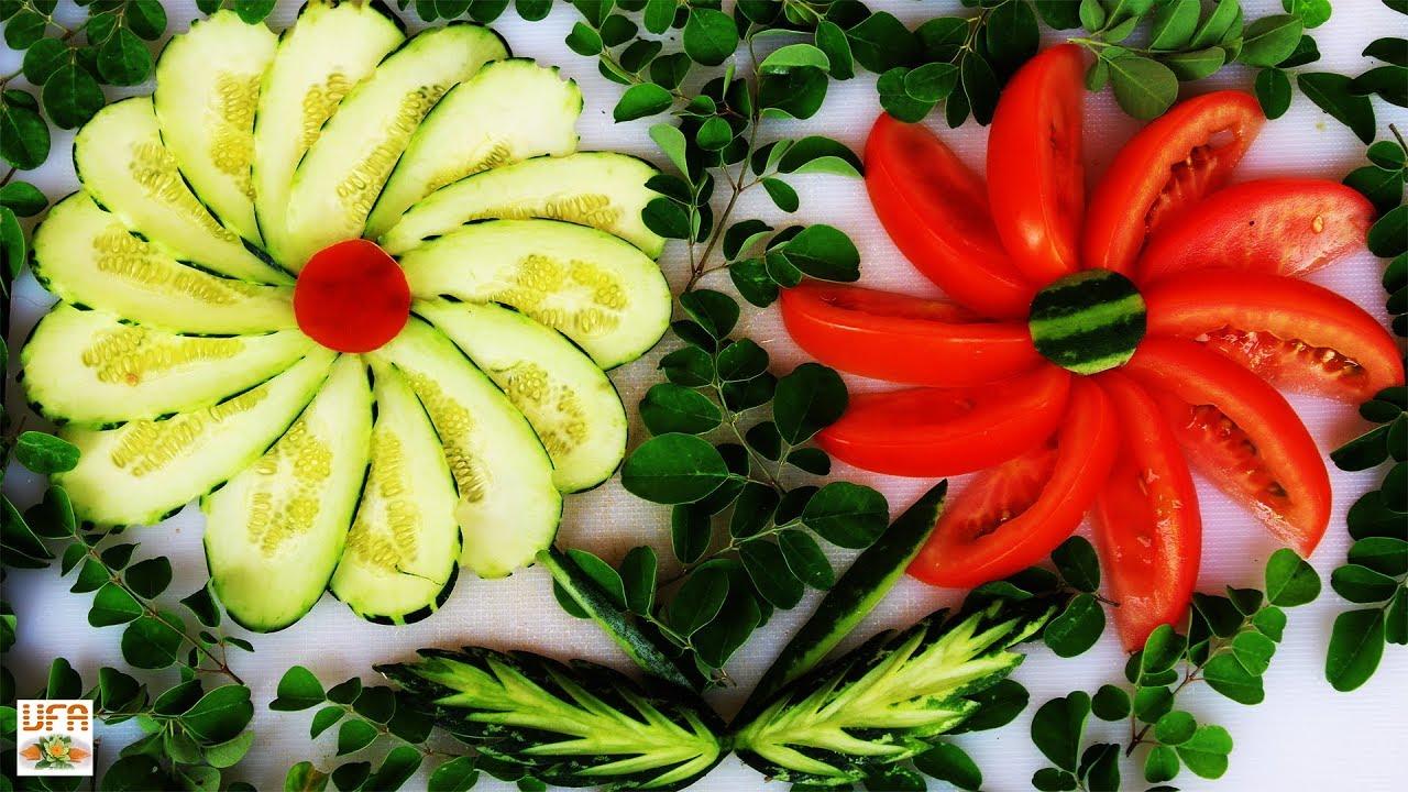 Украшения из помидоров и огурцов фото