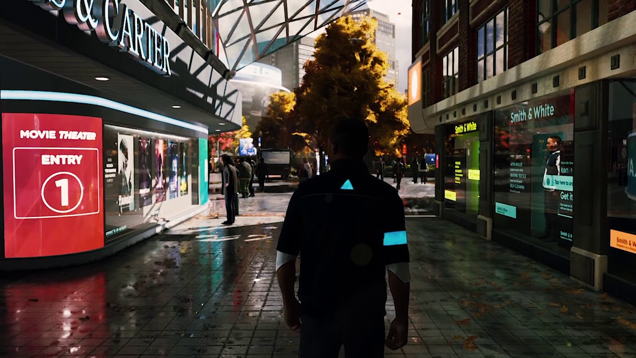 Detroit Become Human Shopping Center Ambiance Drones Cars