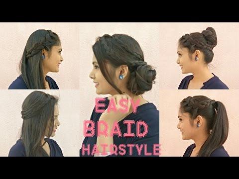 5 Easy Braided Hairstyles Tutorial Diy Bridal Hairstyles For