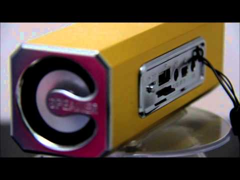 Test Stereo Mini speaker mp3 player fm radio SD card reader