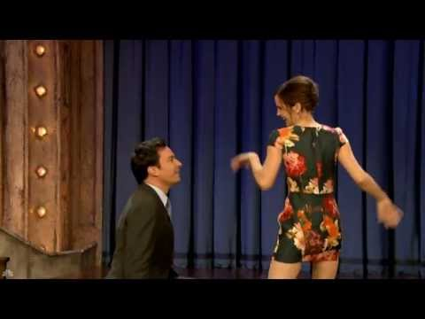 WebRip 1080p Emma Watson dancing with Jimmy Fallon