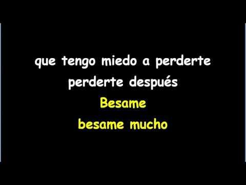Andrea Bocelli - Besame Mucho Karaoke