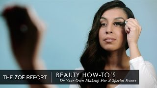 How To Do Your Own Makeup For A Special Event The Zoe Report by Rachel Zoe