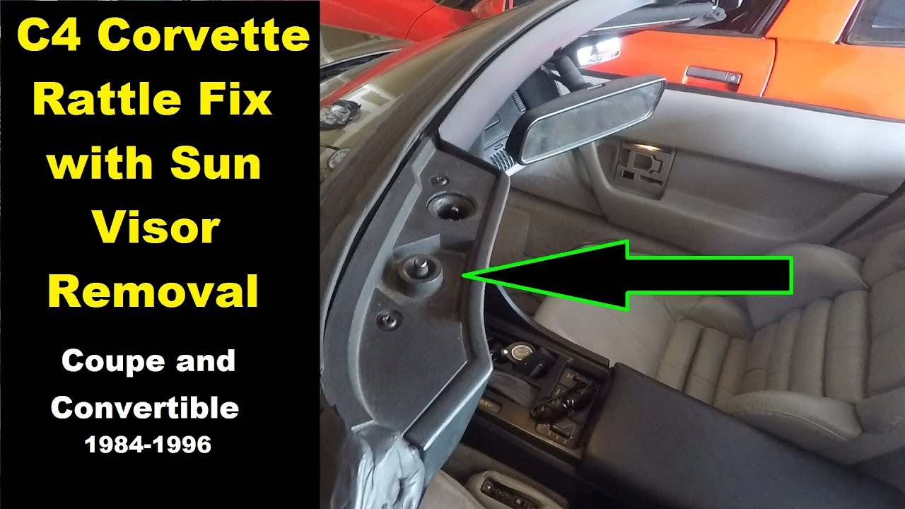Corvette Roof Rattle and Sun Visor Removal. Coupe AND Convertible ... b33493d7ae3