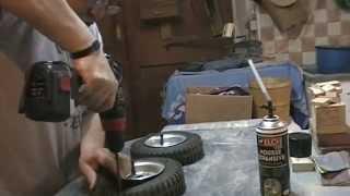 Comment faire des roues increvables pour brouettes, tondeuses, diables ....