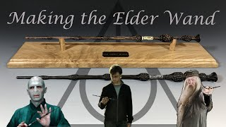 Making the Elder Wand from Harry Potter - from real Elder wood! Woodturning Dumbledore's Wand