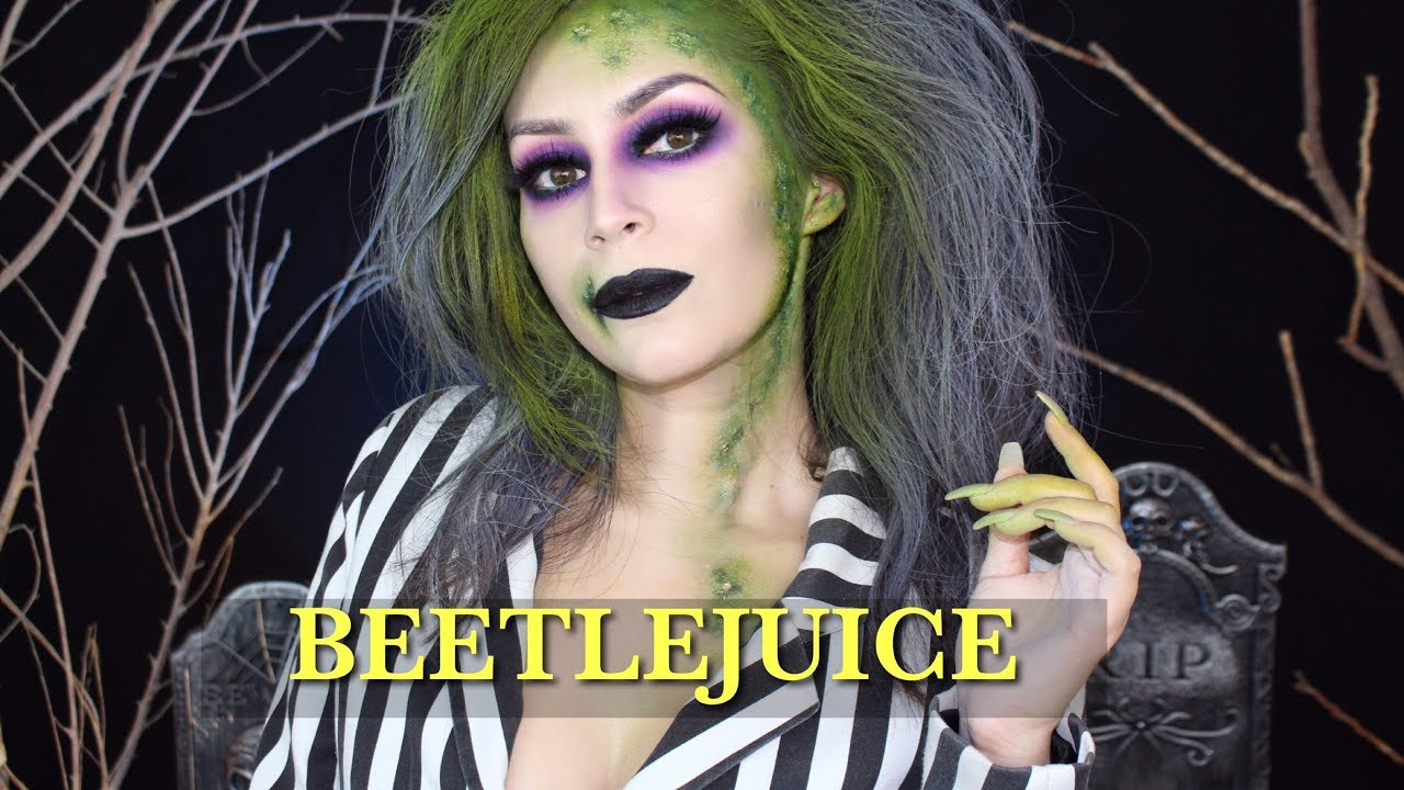 Beetlejuice Halloween Makeup Tutorial L Beetlejuice Girl Version L Cflowermakeup Youtube
