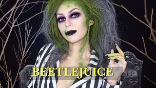 BEETLEJUICE Halloween makeup tutorial l Beetlejuice girl version l cflowermakeup