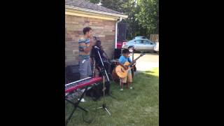 "8-year-old Jax crushes ""Whole-hearted"" by Extreme on guitar with Vinnie DeRosa singing"