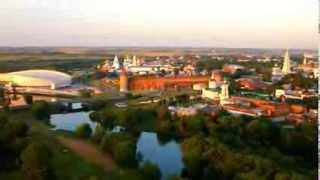 Коломенский кремль, вид с воздуха(Прекрасные виды Коломенского кремля с воздуха. http://www.kolomna-kreml.ru Маринкина башня, Соборная площадь, кремль,..., 2014-01-27T07:59:59.000Z)