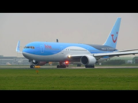 ArkeFly ► Boeing 767-300 ► Takeoff ✈ Amsterdam Airport Schiphol