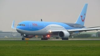 ArkeFly ► Boeing 767-300 ► Takeoff ✈ Amsterdam Airport Schiphol