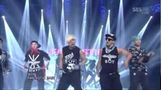 Video BIGBANG [FANTASTIC BABY] @SBS Inkigayo 인기가요 20120318 download MP3, 3GP, MP4, WEBM, AVI, FLV Agustus 2018