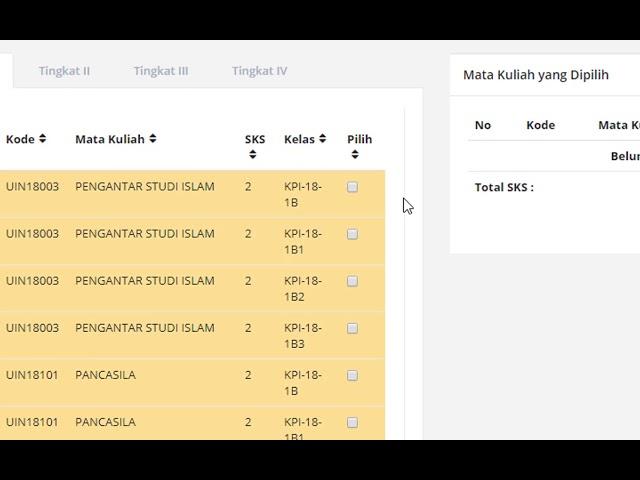 Registrasi KRS Mahasiswa UIN Antasari Banjarmasin